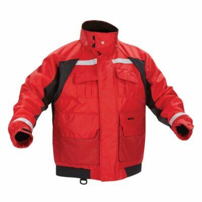 Kent 151800-100 Deluxe Flotation Jacket w/ ArcticShield Technology Hood, Red/Black