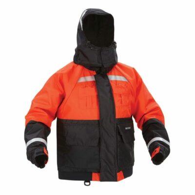 Kent 151800-200 Deluxe Flotation Jacket w/ ArcticShield Technology Hood, Orange/Black