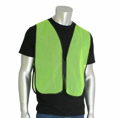 PIP 300-0800 Non-ANSI Mesh Safety Vest, Lime Yellow