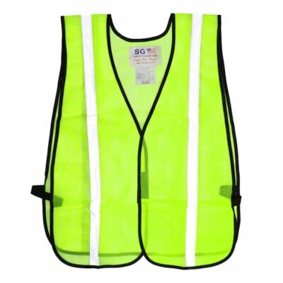 PIP 300-EVOR-E Non-ANSI One Pocket Mesh Safety Vest w/ Reflective Stripes, Lime Yellow