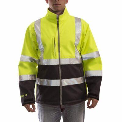 Tingley J25022 Phase 3™ Hi-Vis Soft Shell Jacket, Yellow-Green/Black