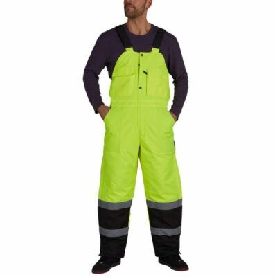 Utility Pro UHV500 Class E High Visibility Lined Bib Overalls, Yellow/Black