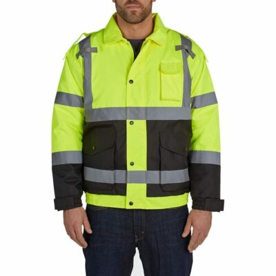 Utility Pro UHV562 High-Visibility Bomber Jacket, Quilt Lined, Yellow/Black