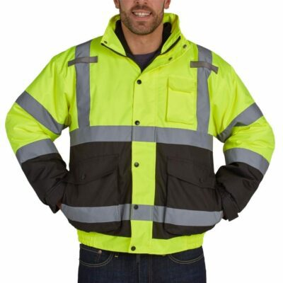 Utility Pro UHV563 Hi-VIS Bomber w/ Zip-Out Liner, Class 3, Yellow/Black
