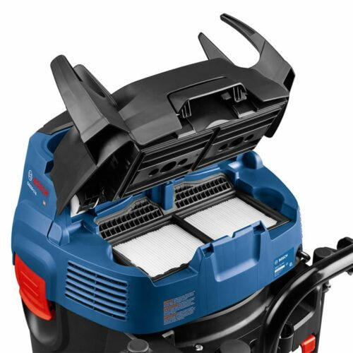 Bosch GAS20-17AH 17-Gallon 300-CFM Dust Extractor Vac (front compartment view)