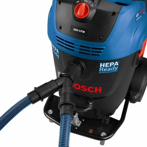 Bosch GAS20-17AH 17-Gallon 300-CFM Dust Extractor Vac (hose connector view)