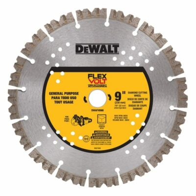 "DeWALT DWAFV8900 FLEXVOLT® 9"" Diamond Cutting Wheel"
