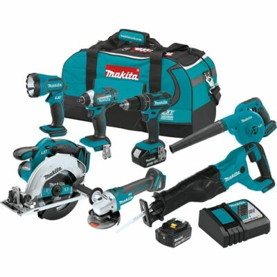 Makita XT706 18V LXT® Lithium‑Ion Cordless 7-Pc. Combo Kit (3.0Ah)