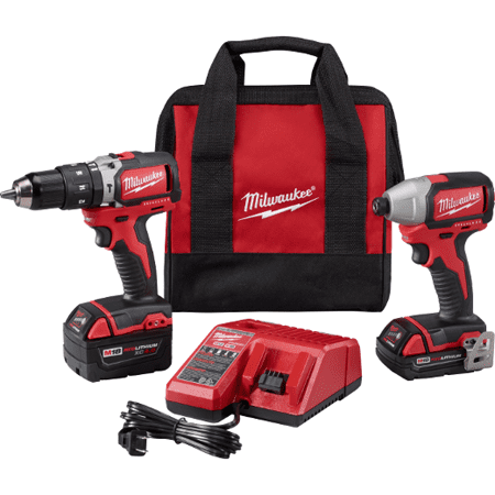 Milwaukee 2799-22CX M18 FUEL Brushless Hammer Drill and Impact Driver Combo Kit