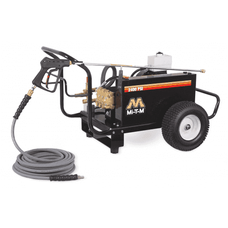 Mi-T-M CW-2405-4ME3 CW Series Portable Cold Water Belt Drive Electric Pressure Washer (2400 PSI / 4.6 GPM / 8 HP)