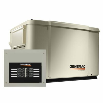 Generac 6998 PowerPact 7.5/6kW Home Backup Generator with 8-circuit Transfer Switch