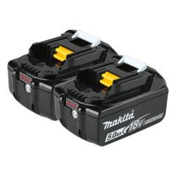 Makita BL1850B-2 18V LXT Li-Ion Battery - 5.0 Ah (2 Pack)