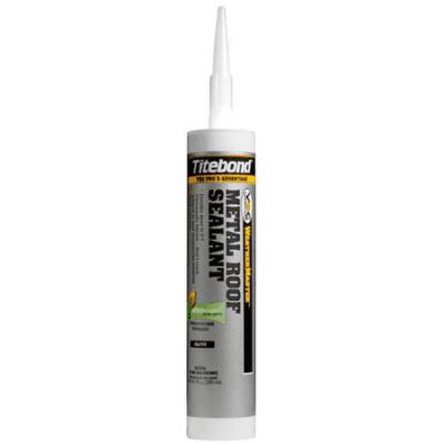 Titebond 61001 WeatherMaster Metal Roof Sealant - 10.1oz Cartridge / White (12 Pack)