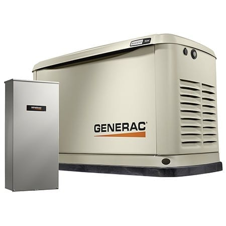 Generac 7030 Guardian 9kW (LP) / 8kW (NG) Air-Cooled Standby Generator with Automatic 16-Circuit LC NEMA3 Transfer Switch  w/ Wi-Fi
