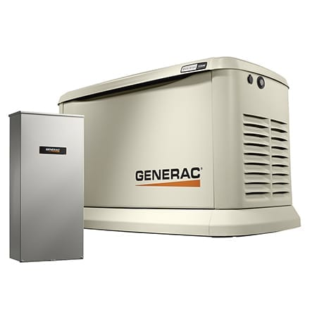 Generac 7043 Guardian 22kW (LP) / 19.5kW (NG) Air-Cooled Standby Generator with 200SE Transfer Switch Wi-Fi Enabled