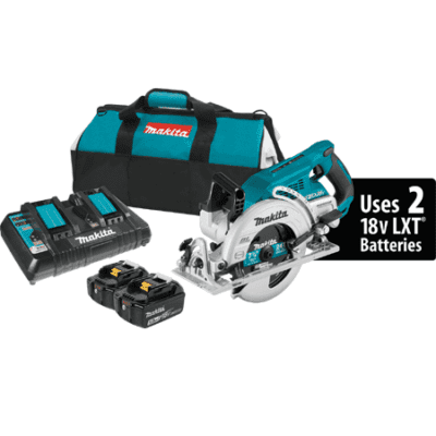 Makita XSR01PT 18V X2 LXT Lithium-Ion (36V) Brushless Cordless 7-1/4 Rear Handle Circular Saw Kit (5.0Ah)