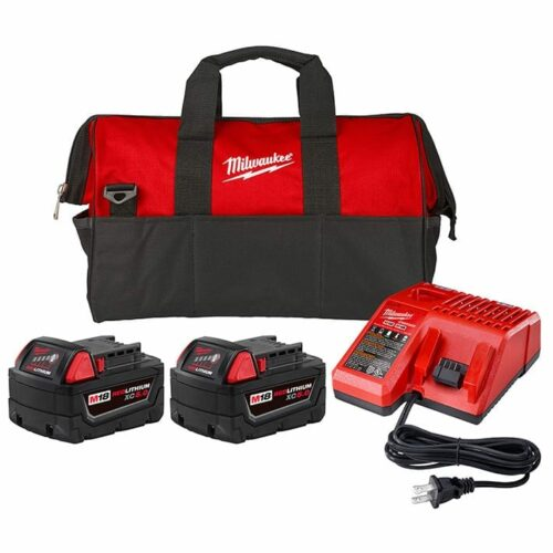 Milwaukee 48-59-1852P M18 XC 5.0Ah Starter Kit w/ Batteries, Charger, & Contractor Bag