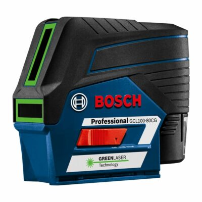 Bosch GCL100-80CG 12V Max Connected Green-Beam Cross-Line Laser with Plumb Points