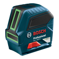 Bosch GLL 100 G Green-Beam Self-Leveling Cross-Line Laser