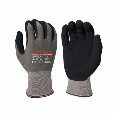 Armor Guys 00-001 Kyorene Nitrile Palm Gloves, Level A1 EN388 Cut 1, Gray