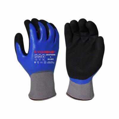 Armor Guys 00-005 Kyorene Graphene Gloves, Blue Nitrile Coating, Level A1 EN388 Cut 1