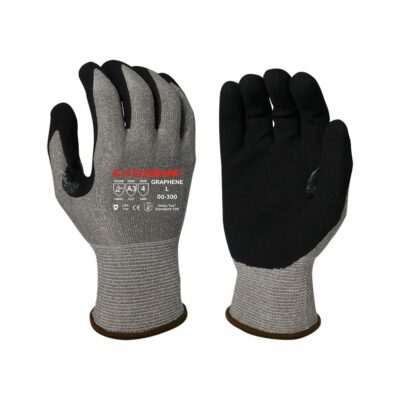 Armor Guys 00-300 Kyorene Gloves with Black Nitrile Palm Coating, Level A3 EN388 Cut 3