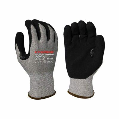 Armor Guys 00-600 Kyorene Gloves with Black Nitrile Palm Coating, Level A6 EN388 Cut 6