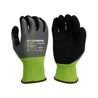 Armor Guys 00-830 Kyorene Pro Gloves with Black HCT® Palm Coating, Level A3 EN388 Cut 3 ABR 5