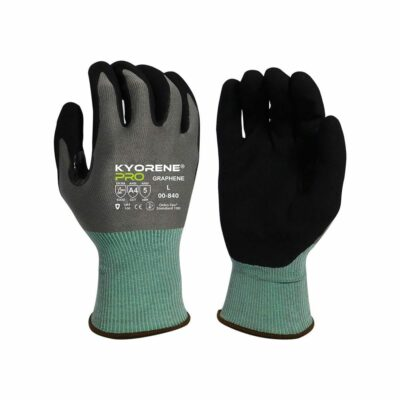 Armor Guys 00-840 Kyorene Pro Gloves with Black HCT® Palm Coating, Level A4 EN388 Cut 4 ABR 5