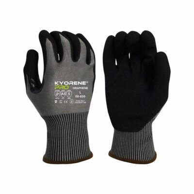 Armor Guys 00-850 Kyorene Pro Gloves with Black HCT® Palm Coating, Level A5 EN388 Cut 5 ABR 5