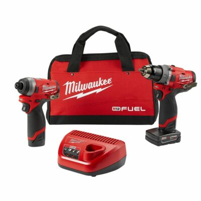 "Milwaukee 2598-22 M12 FUEL™ 1/2"" Hammer Drill and 1/4"" Hex Impact Driver Combo Kit"