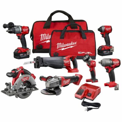 Milwaukee 2997-27 M18 FUEL™ 7 Tool Cordless Combo Kit, 5.0 Ah