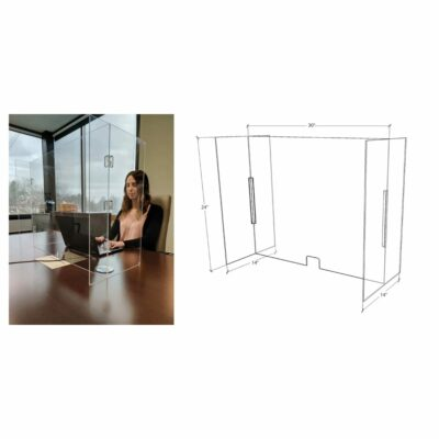 Foldable Clear Acrylic Work Station Guard