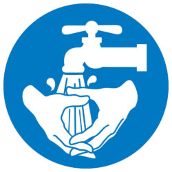 Wash Hands Graphic Label, Pressure Sensitive Vinyl