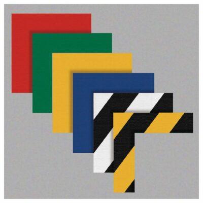"Corner Marking Angles, 2"" Wide Stems, Heavy-Duty Pressure Sensitive Vinyl, 25-Pack"