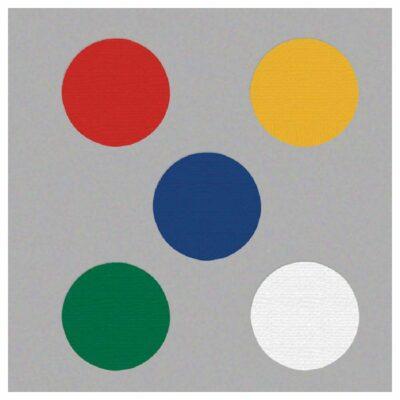 "Marking Dots, 3.5"" Diameter, Heavy-Duty Pressure Sensitive Vinyl, 25-Pack"