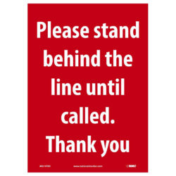 Please Stand Behind the Line Sign, 14