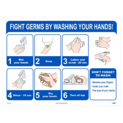 Fight Germs by Washing Your Hands Poster