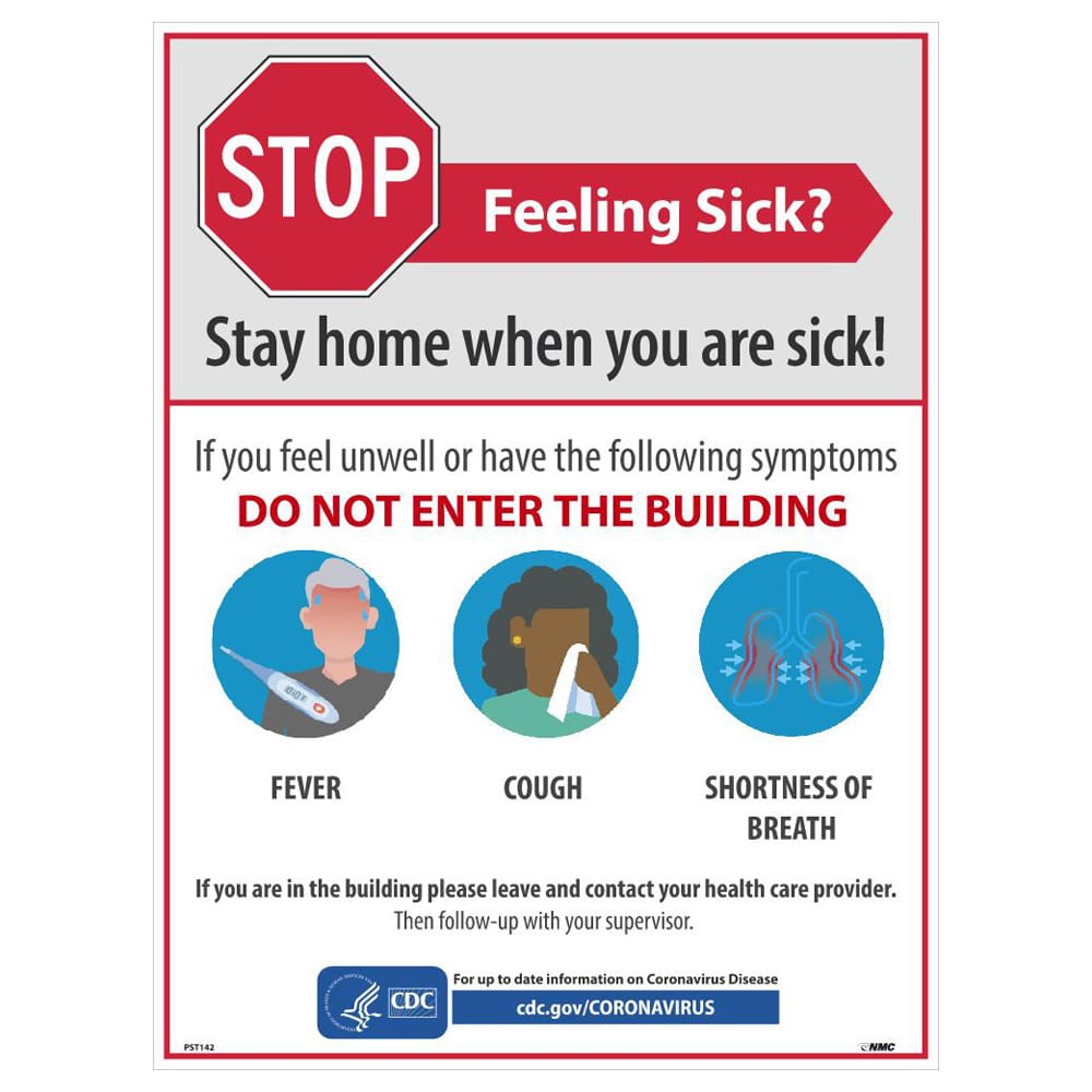 Stay Home When You Are Sick Poster, English