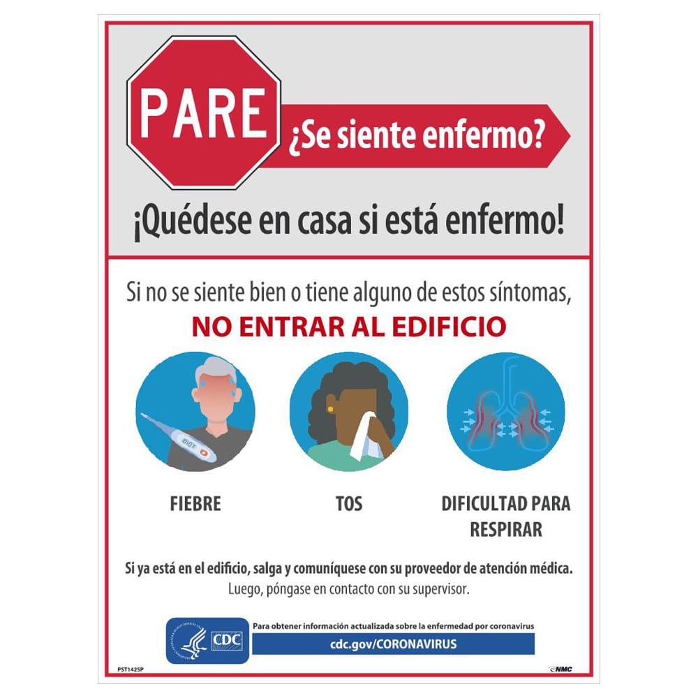 Stay Home When You Are Sick Poster, Spanish