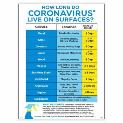 HOW LONG DO CORONAVIRUS LIVE POSTER