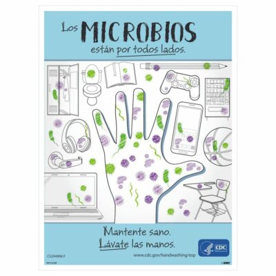 GERMS ARE ALL AROUND YOU POSTER, SPANISH