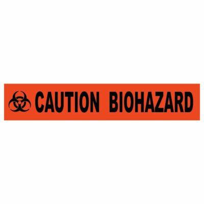 "Caution Biohazard Barricade Tape, 4 Mil, 3"" x 1000'"