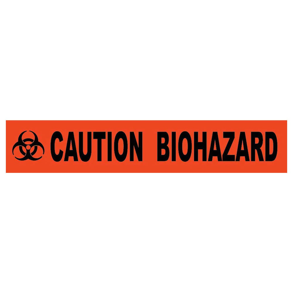 "Caution Biohazard Barricade Tape, 4 Mil, 3"" x 1000'"