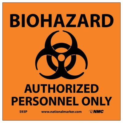 """BIOHAZARD AUTHORIZED PERSONNEL ONLY (W/GRAPHIC), 7"""" X 7"""""""