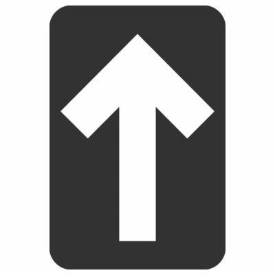 "DIRECTIONAL ARROW FLOOR GRAPHIC, BLACK, 6"" x 4"""