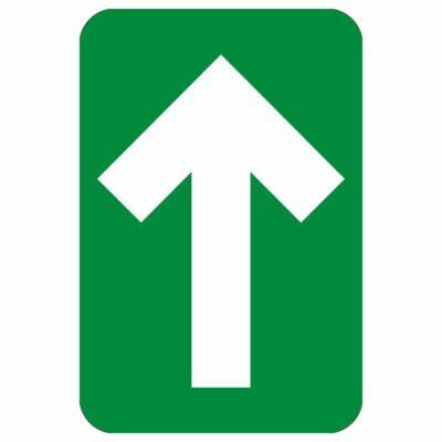 """DIRECTIONAL ARROW FLOOR GRAPHIC, GREEN, 6"""" x 4"""""""
