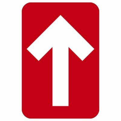 """DIRECTIONAL ARROW FLOOR GRAPHIC, RED, 6"""" x 4"""""""