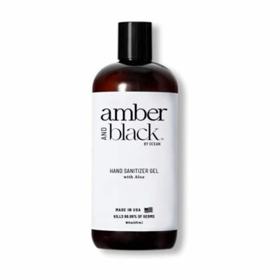 AMBER & BLACK 16-OZ HAND SANITIZER GEL - 70% ALCOHOL